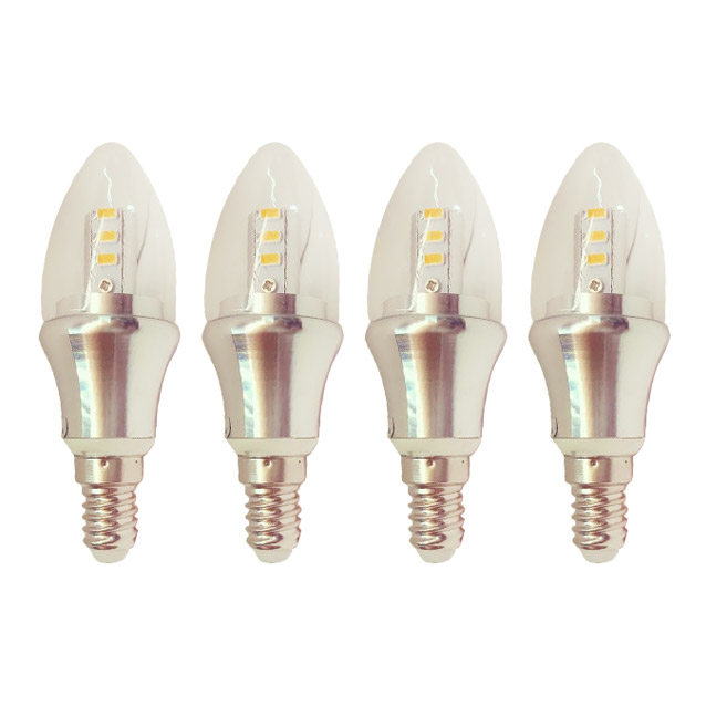 iinno Pack of 4 LED 4W Candle Globes