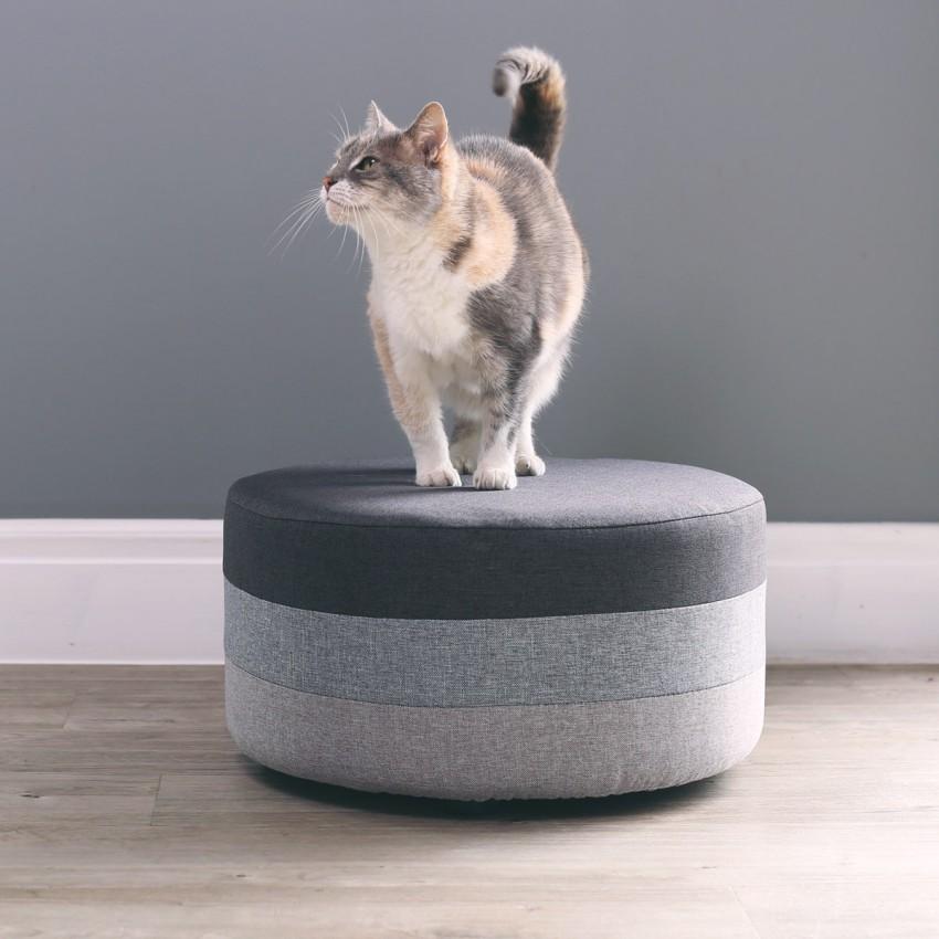 Kollectiv Gradient Grey Footstool