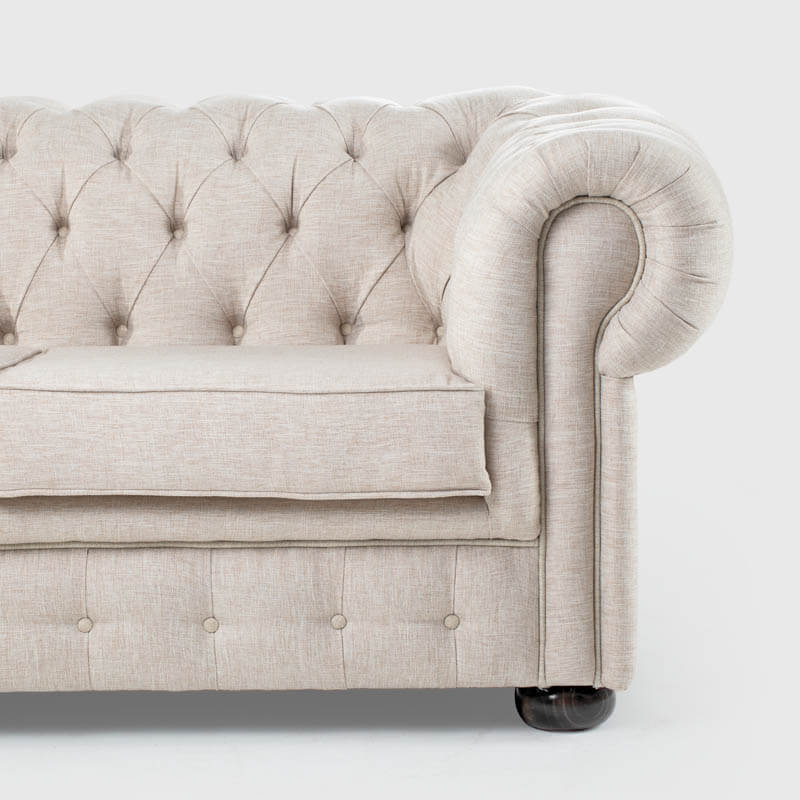 Chesterfield 3 Seater Fabric Sofa