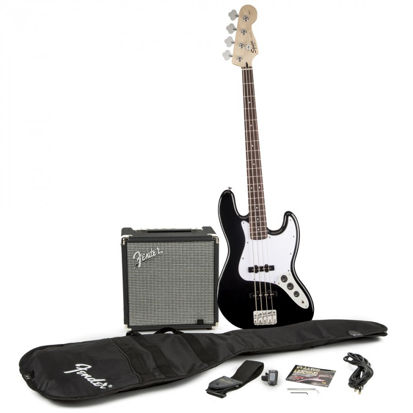 Fender Squier Affinity Jazz Bass Guitar Outfit with Amp