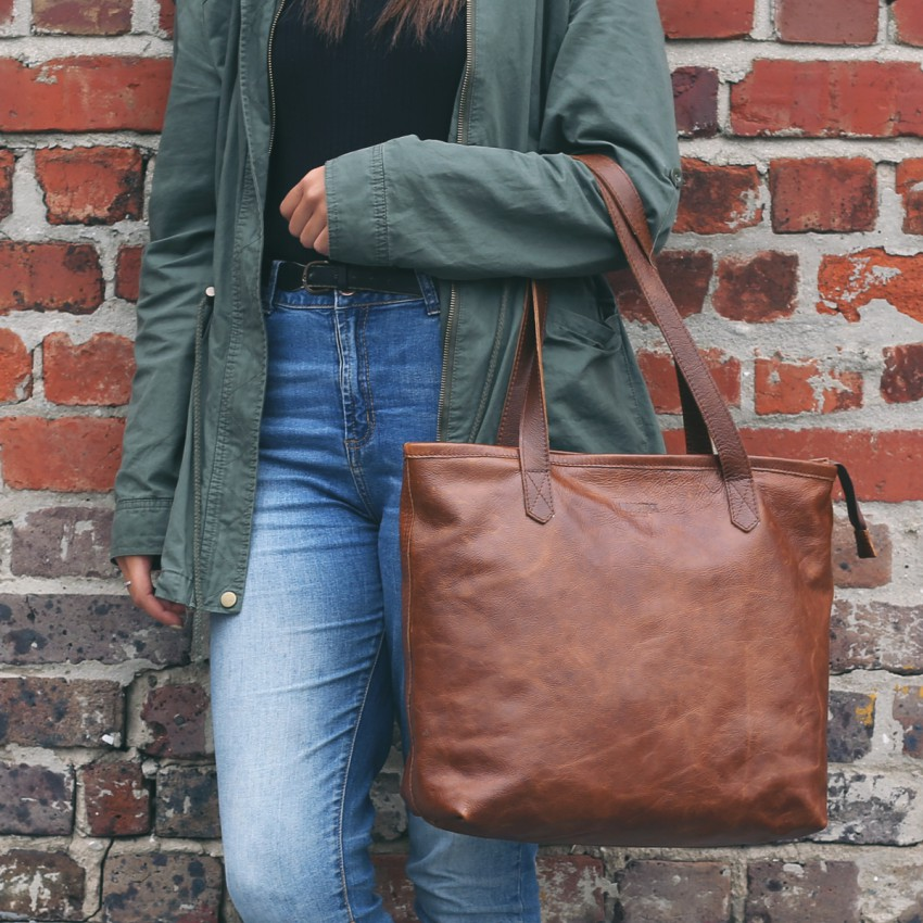 Woodstock Leather Genuine Leather Soft Tote Bags (Limited Stock Available)
