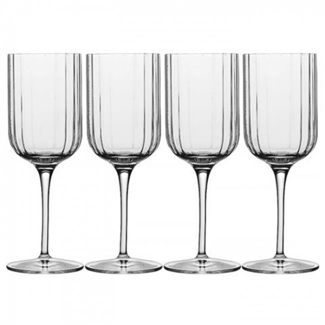 Luigi Bormioli 280ml Stemmed Bach White Wine Glasses (Set of 4)
