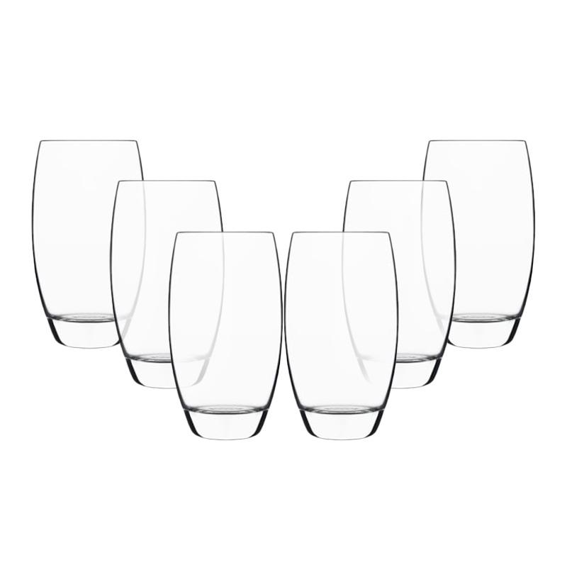 Luigi Bormioli 350ml Puro Hi-Ball Glasses (Set of 6)