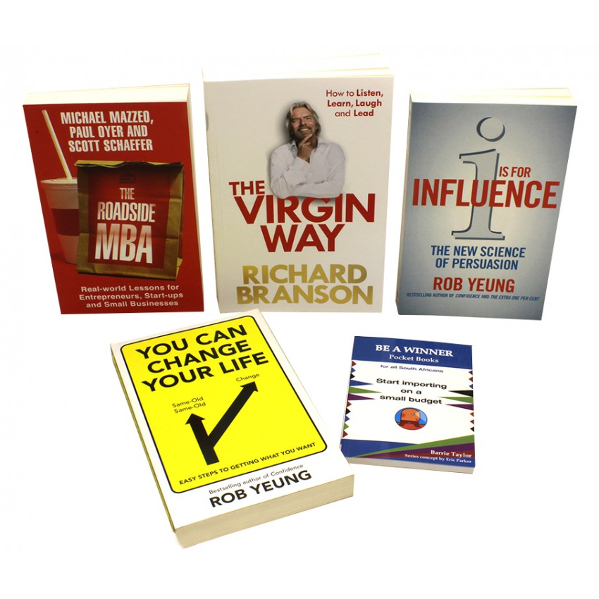 Richard Branson The Virgin Way & 4 Other Business Leader Titles Collection Every Entrepreneur Should Read
