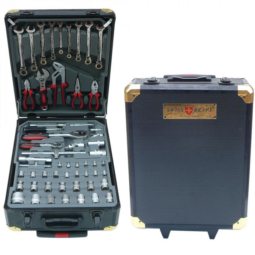 Swiss Kraft 356-Piece Limited Edition Black & Gold Tool Set with Aluminium Storage Box