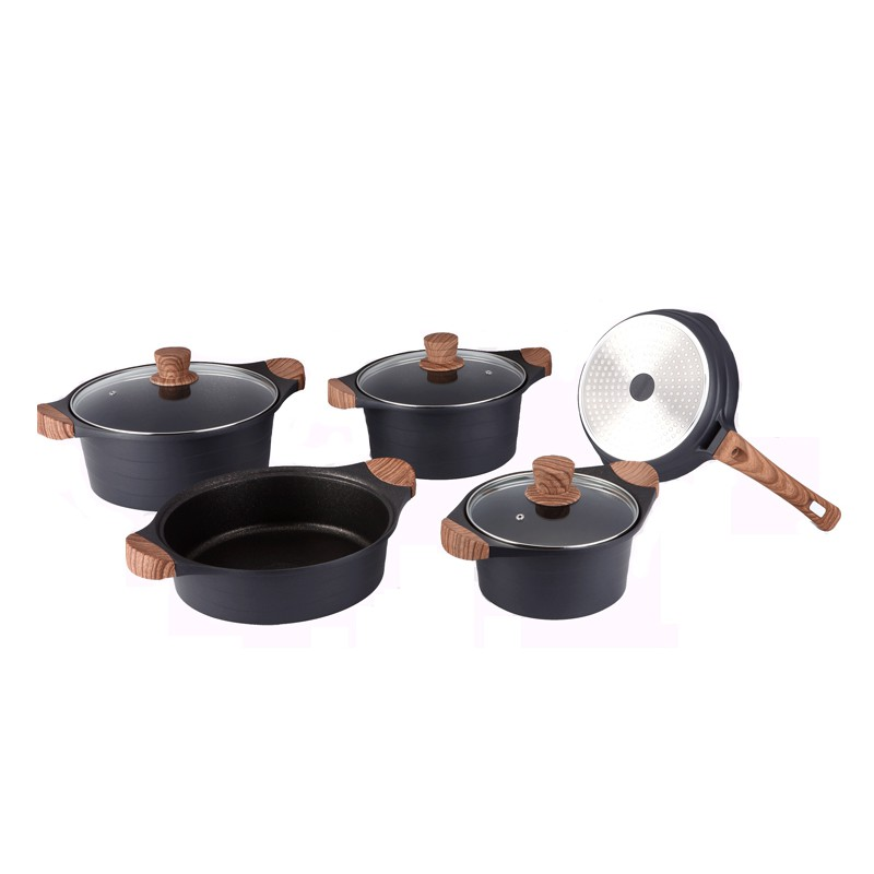 Royalty Line 8 Piece Marble-Coated Cookware Set