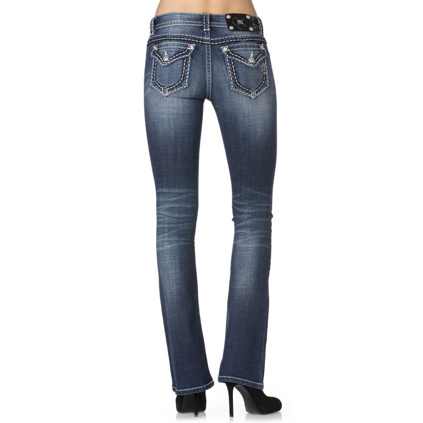 Miss Me Mid Rise Pick Pocket Jeans