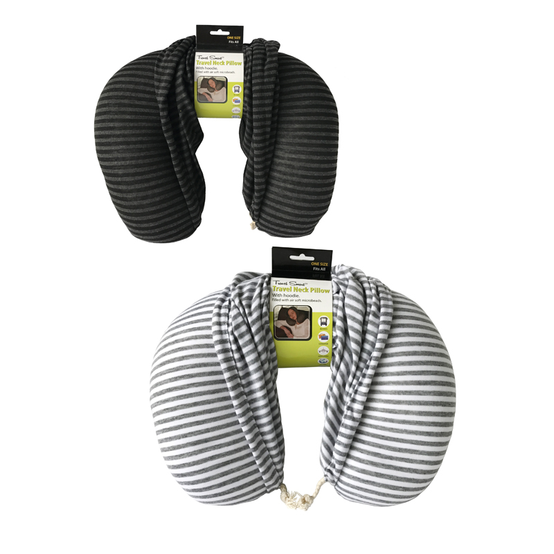 Lux Travel Pillow With Hood (Set of 2)