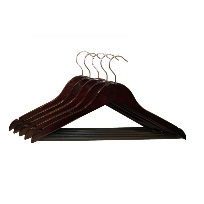 Presence Set of 8 Mahogany Trouser Hangers