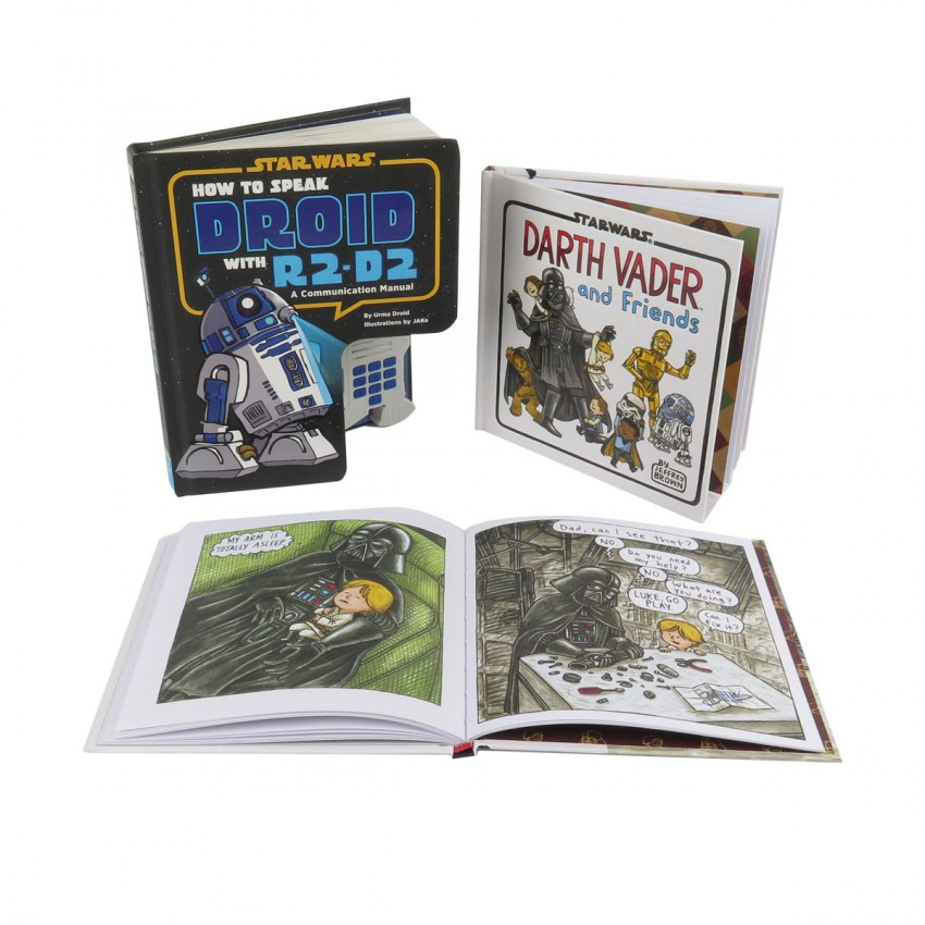 Star Wars How to Speak Droid Communication Manual and Darth Vader Book Bundle (3 Books)