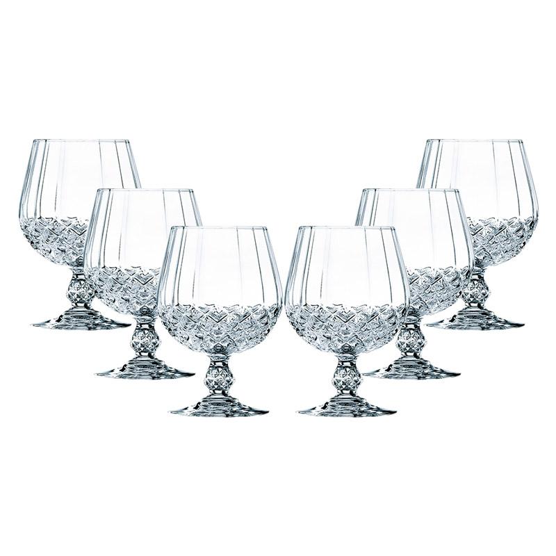 Cristal d'Arques Set of 6 320ml Longchamp Brandy Glasses