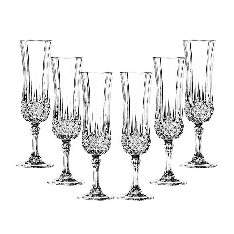 Cristal d'Arques Set of 6 Longchamp Champagne Flutes