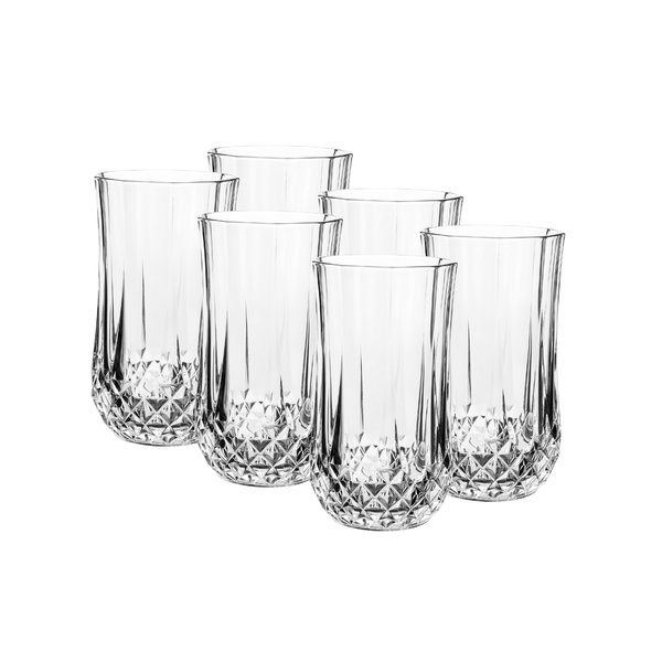 Cristal d'Arques Set of 6 320ml Whiskey Tumblers or 360ml Highball Glasses