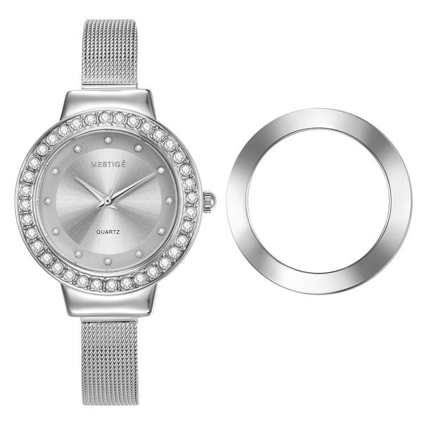 Mestige The Beatrix Watch & Attachable Bezel with Crystals from Swarovski