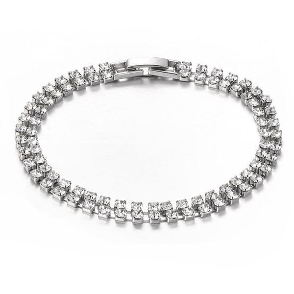 Mestige Princess Crystal Bracelet with Crystals from Swarovski