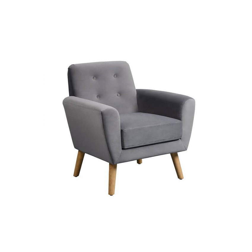 Lagom Sexton Occasional Armchair with Natural Oak Legs