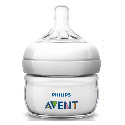 Philips Avent Set of 2 60ml Natural Feeding Bottles