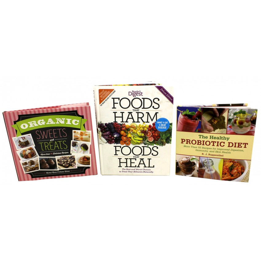 Healthy Living Organic Diet and Nutritional Bundle (3 Hardcover Books)