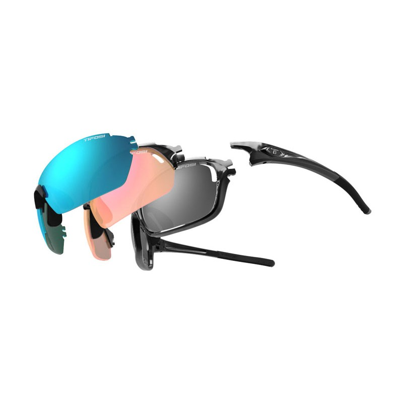 Tifosi 3 Frames + 6 Lenses Launch SFH Sunglasses (Gloss Black)