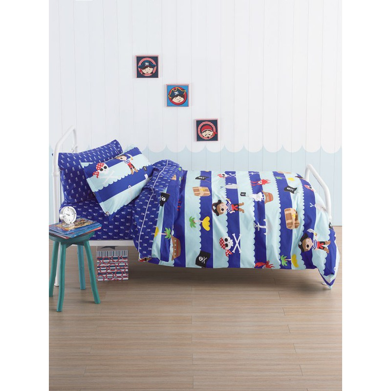 Linen House Ahoy There Kids Duvet Set (Cover + Fitted Sheet + Standard Pillowcases)