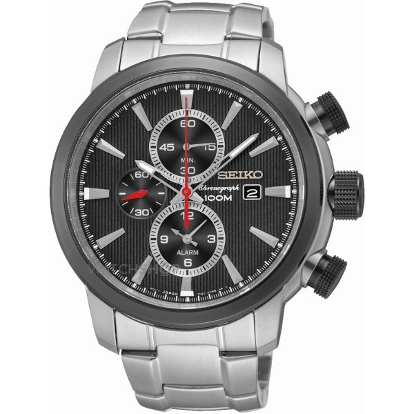 Seiko Gents Chronograph Stainless Steel Watch