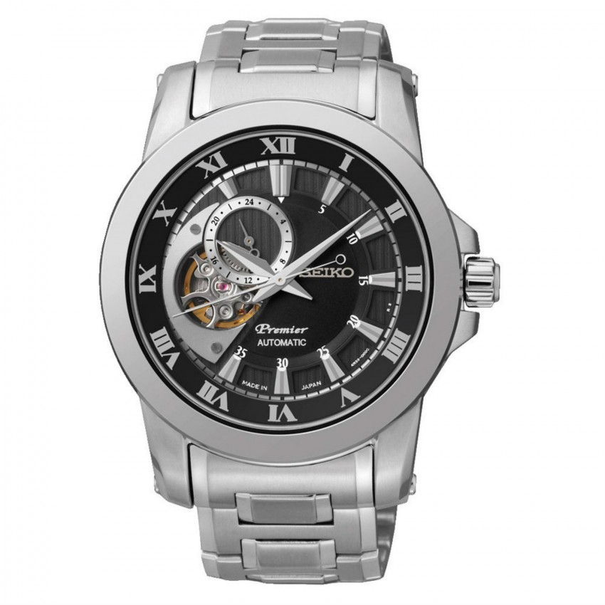 Seiko Gents Premier Automatic Open Heart Stainless Steel Watch