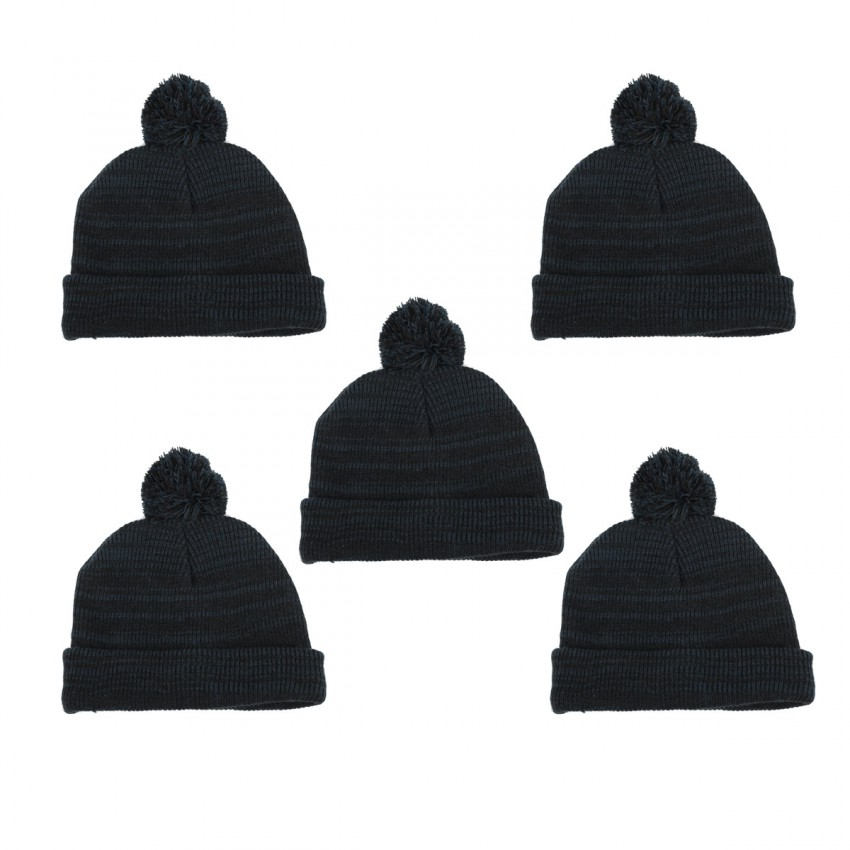 Winter Pack of 5 Furry Lined Beanies