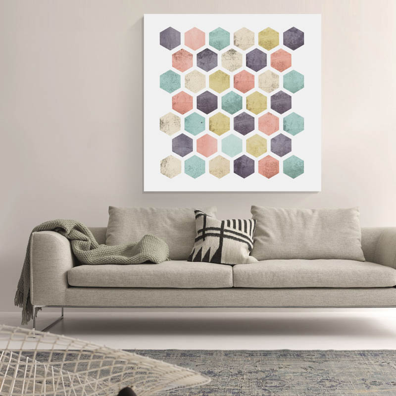 WallArt Honeycomb Canvas