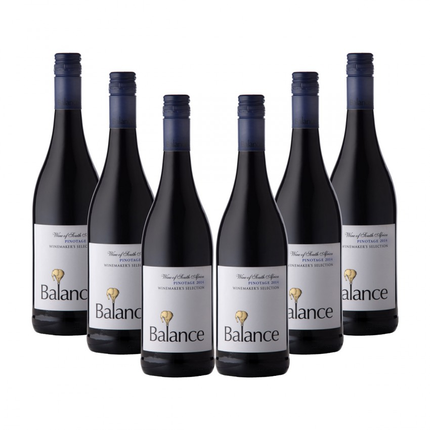 Balance Case of Winemaker Selection Pinotage 2014 (R45 per Bottle, 6 Bottles)