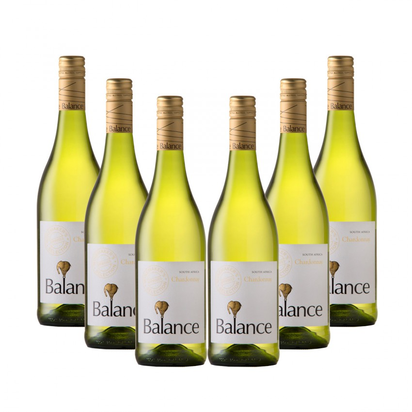 Balance Case of Winemaker Selection Chardonnay 2016 (R50 per Bottle, 6 Bottles)