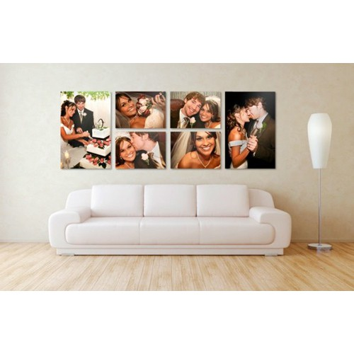 My Print Bar 4 x Personalized A1 Photo-To-Canvas Prints