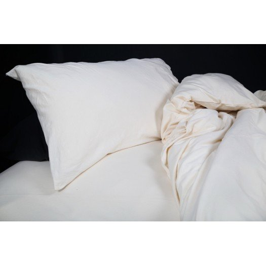 The T-Shirt Bed Co. White Jersey Knit Duvet Cover Set