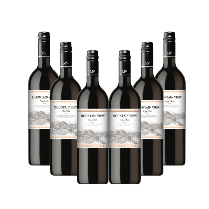 Mountain View Case of Cape Red 2015 (R55 per Bottle,6 Bottles)