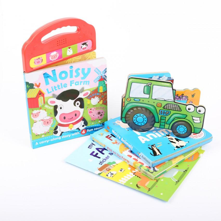 Farm Fun Children's Animal Sound and Activity Bundle (5 Books)