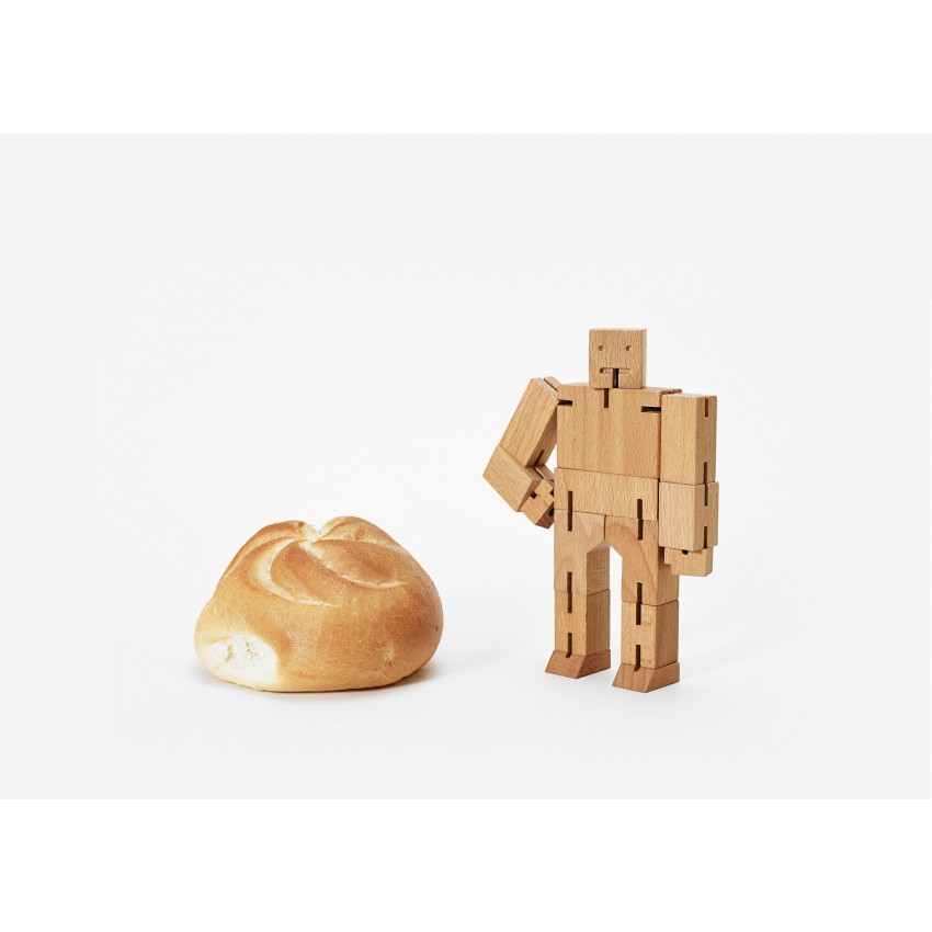 Cubebot Small Wooden Desk Toy (More Colours Available)