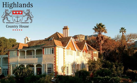 Lavish 5-star getaway at Highlands Country House, Cape Town's best kept secret: enjoy a nights stay for 2 people, incl breakfast + dinner for just R899 (value R2490)
