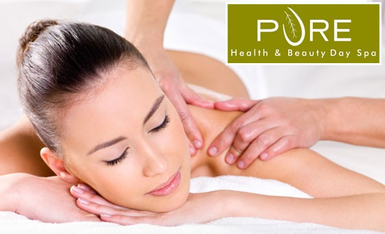 Pure indulgence at Pure Health and Beauty Day Spa: Get a 30-minute back, neck and shoulder massage for just R99 (value R200)