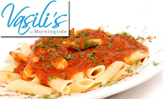 Enjoy authentic Mediterranean cuisine at Vasili's at Morningside – R149 for R300 off your food bill for a min of 2 people incl 2 softdrinks OR 2 brown sherries (save 50%)