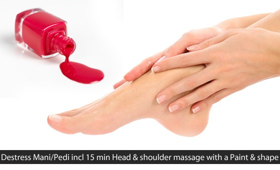 Pampering session at Zman Hair Nails and Beauty: for only R149 get a De-stress Hot Stone Pedi OR Mani with paint and shape & a head and shoulder massage + bonus (value R690)