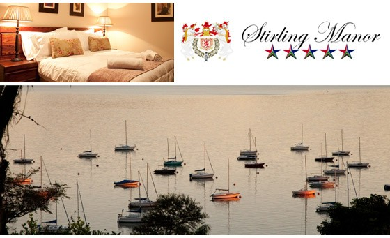 Exclusive, five-star getaway in the heart of Hartebeespoort Dam: one night stay for 2 people incl breakfast, spa treatment and a bottle of wine at Stirling Manor – just R799 (value R2800)