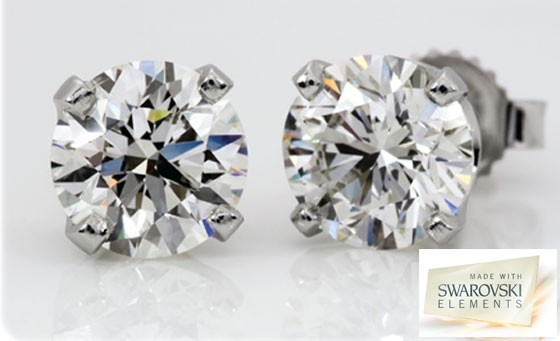 Sparkle with a pair of 6mm Swarovski zirconia studs from Sterling Silver Studs, incl nationwide delivery by registered post – just R199 (value R450)