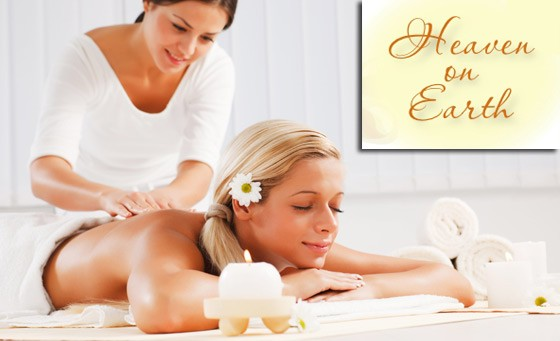 Heavenly pampering session with Heaven on Earth Day Spa: R129 for a back, neck and shoulder massage incl eye treatment AND foot scrub and massage plus bonus (value R530)