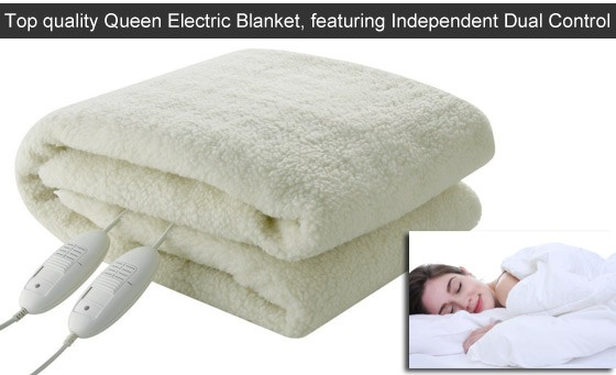 Amazing value on a top quality Queen Electric Blanket! Features Independent Dual Control, Safeguard Protection + more. Only R399 incl National Delivery