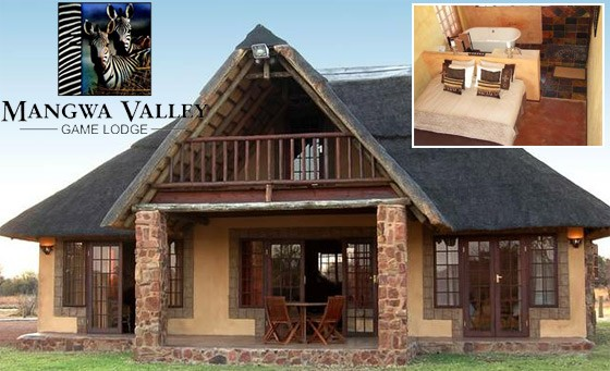 Four-star bushveld experience at the Mangwa Valley Game Lodge in the Dinokeng Reserve: getaway for 2 people incl breakfast, game drives and more – just R899 (value R1920)