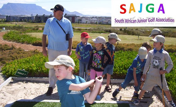 Pro kiddies golfing lessons with The SA Junior Golf Association: R49 for four 1-hour group golf lessons for kids, incl equipment, golf balls and driving range access + bonus (value R152)