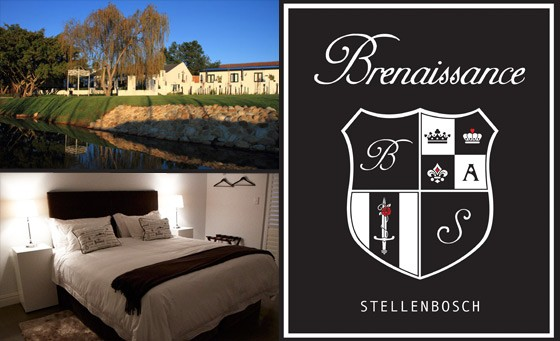 Idyllic, romantic escape at the beautiful Brenaissance Wine Estate in the Cape Winelands: R499 for a getaway for 2, incl breakfast, wine tasting experience and more (value R1350)