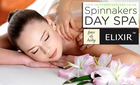 Luxurious pampering session with Spinnakers Day Spa: R149 for a 45-min back, neck and shoulder massage PLUS foot treatment incl file, massage and wrap and bonus (value R465)