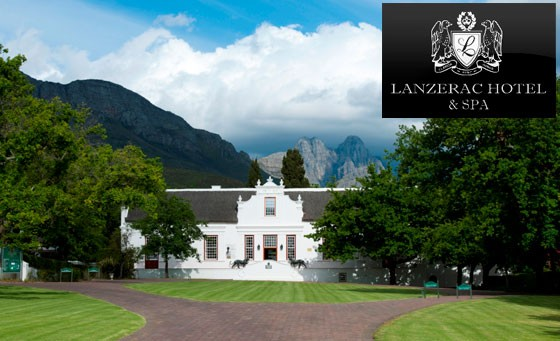 Luxurious, renowned, 5-star Lanzerac Hotel & Spa in Stellenbosch. One night stay for 2, wine tasting, spa treatments and more – just R1299 (save 63%)