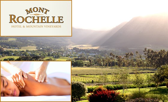Rejuvenate your mind and body at the Mont Rochelle Spa, situated in the breathtaking Cape Winelands: R199 for a full body Swedish OR Aroma massage, bonus and more (value R625)