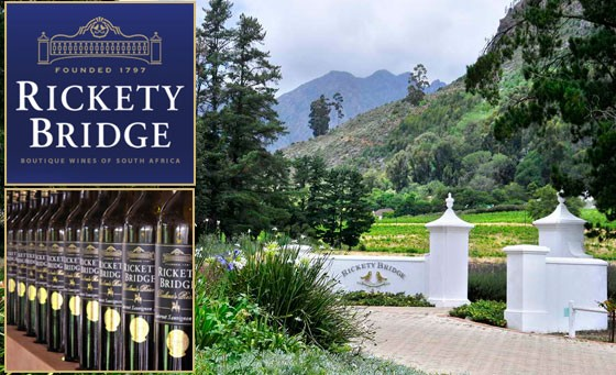A premium, private, tutored wine tasting with award-winning wines for 2 people at Rickety Bridge Wine Estate in Franschhoek. Includes a Cellar Tour and Cheese Platter plus bonus – just R49 (value R250)
